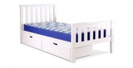 Napoli High Foot End Bedstead by Airsprung - White