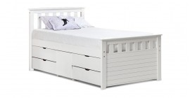 Ferrara Captain's Bed - Whitewash by Verona