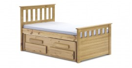 Kid's Short Bergamo Captain's Bed - Antique by V..
