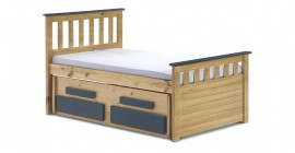 Kid's Bergamo Captain's Bed - Antique With Colour Choice by Verona