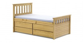Kid's Short Ferrarra Captain's Bed - Antique by Verona