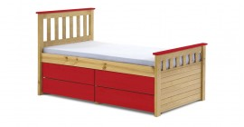 Kid's Ferrarra Captain's Bed - Antique With Colour Choice by Verona