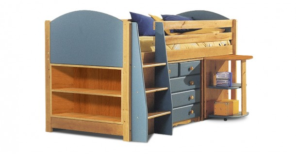Mid-Sleeper Bed Set 1 - Antique With Choice Of Colour by Verona