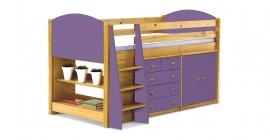 Mid-Sleeper Bed Set 2 - Antique With Choice Of Colour by Verona