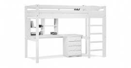 Rimini High Sleeper Student Set With Shoe Rack -..